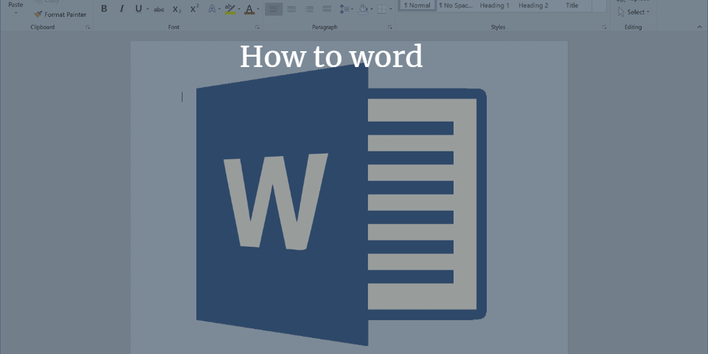 how to word