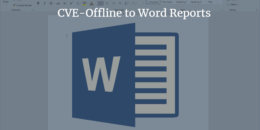 CVE-Offline to Word Reports