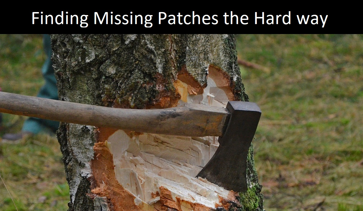 A hatchet taking 1000s of cuts to cut down a tree